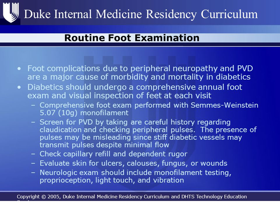 Copyright © 2005, Duke Internal Medicine Residency Curriculum and DHTS Technology Education Services Duke Internal Medicine Residency Curriculum Routi