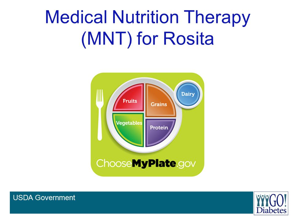 Medical Nutrition Therapy (MNT) for Rosita USDA Government