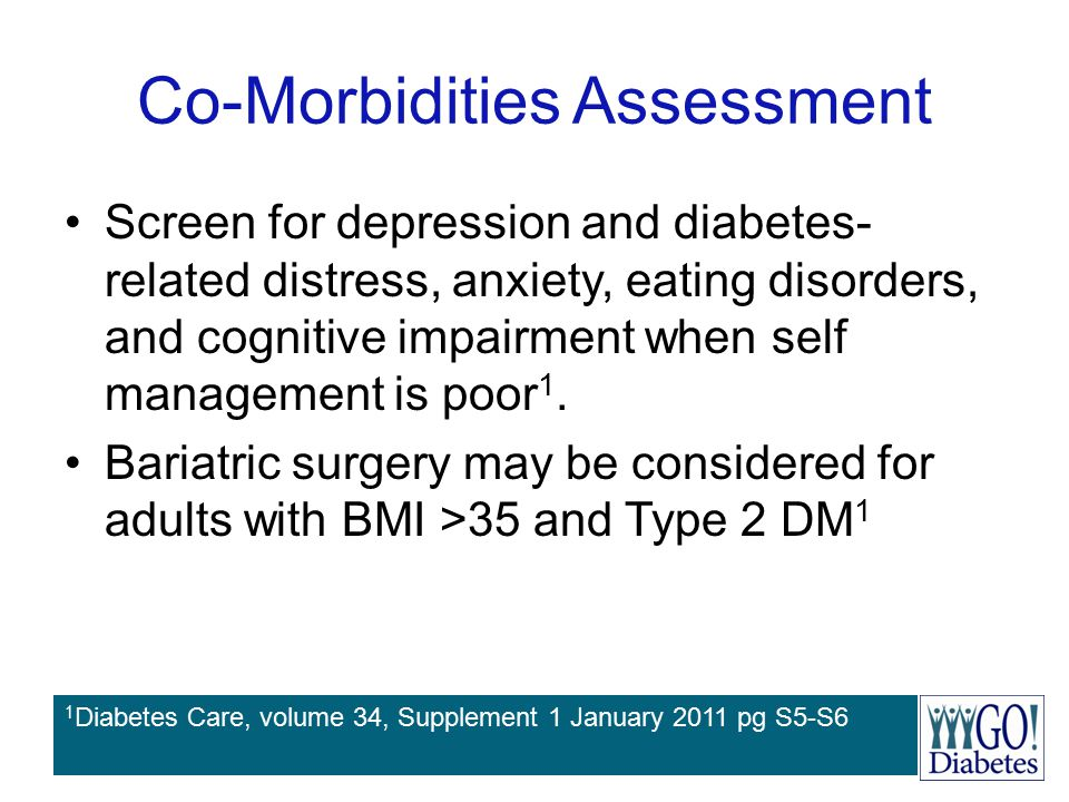 Co-Morbidities Assessment Screen for depression and diabetes- related distress, anxiety, eating disorders, and cognitive impairment when self manageme