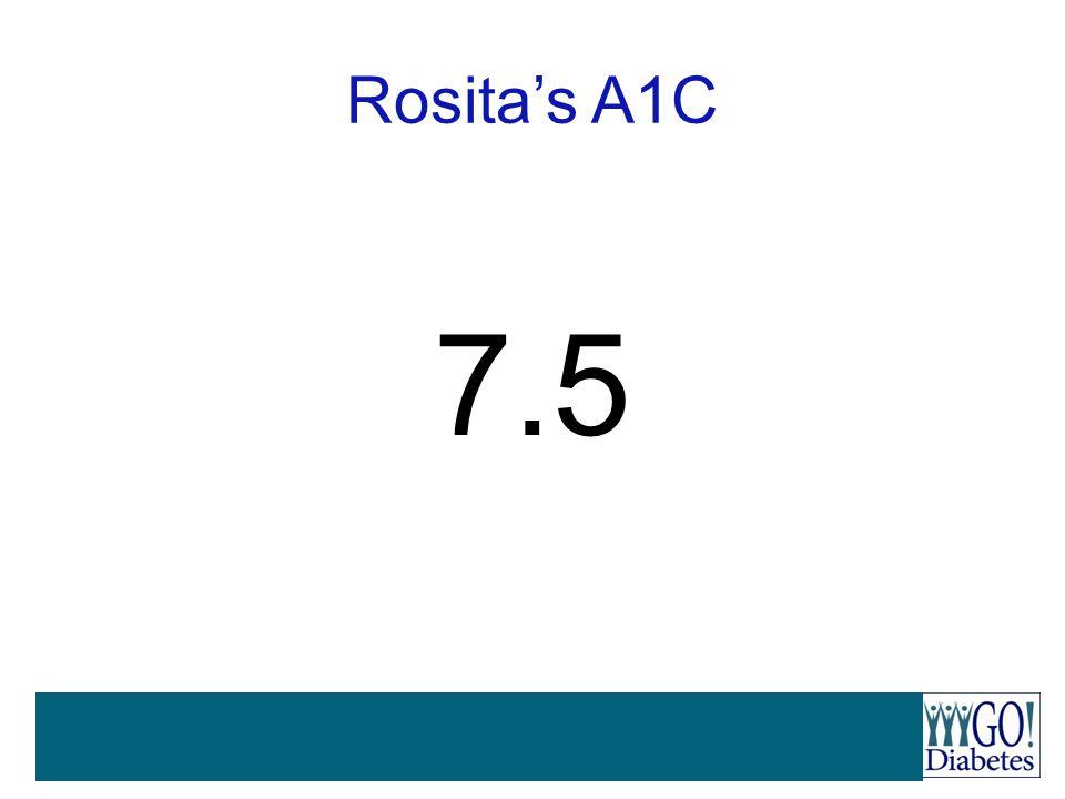 Rosita's A1C 7.5