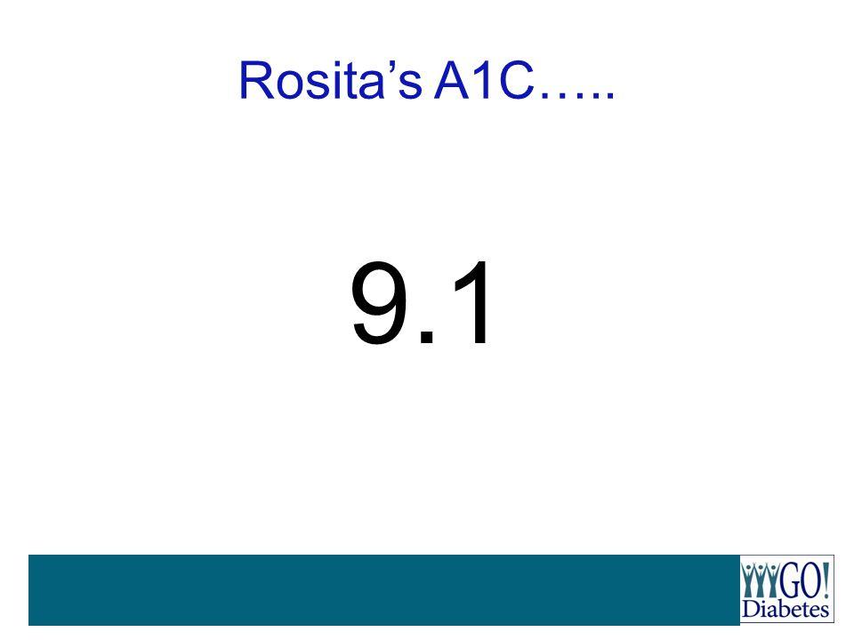 Rosita's A1C….. 9.1