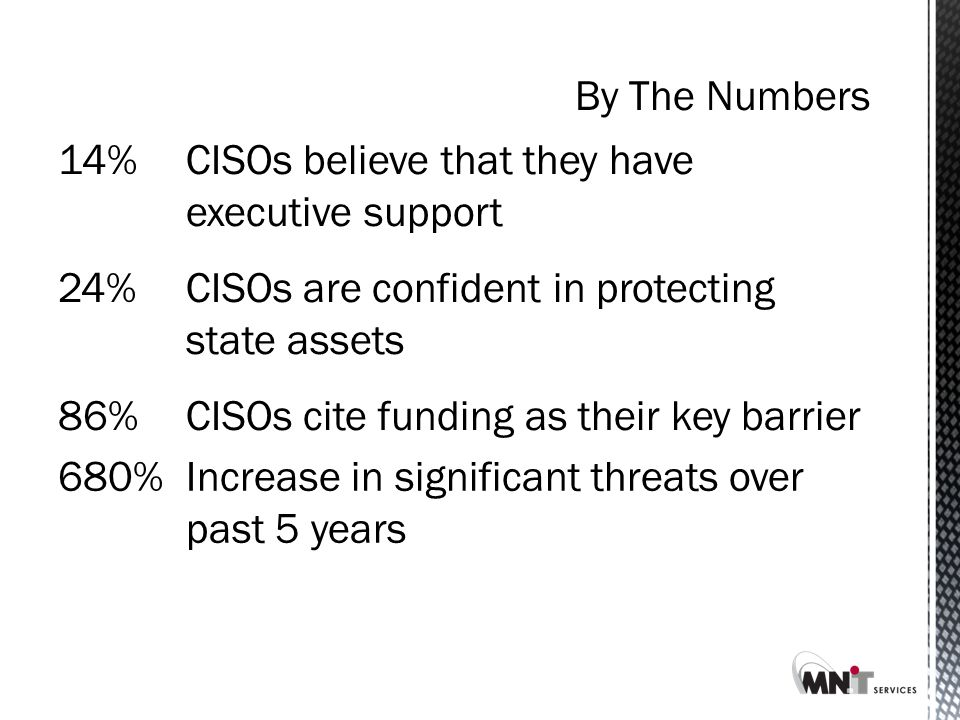 Most States Only Spend Between 1-2% of the IT Budget on Security