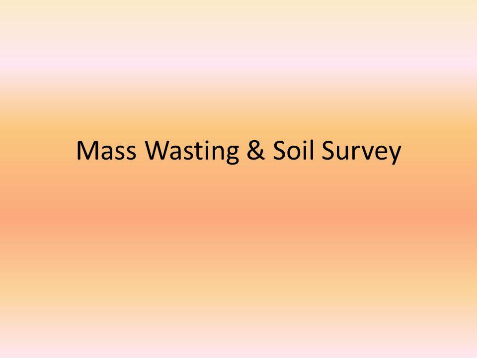 Mass Wasting & Soil Survey