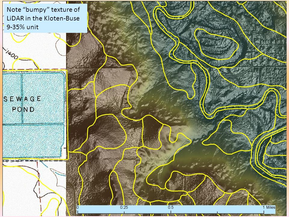 """Note """"bumpy"""" texture of LiDAR in the Kloten-Buse 9-35% unit"""
