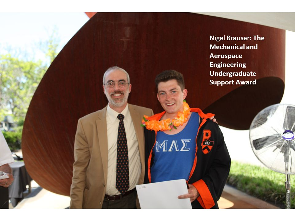 Nigel Brauser: The Mechanical and Aerospace Engineering Undergraduate Support Award