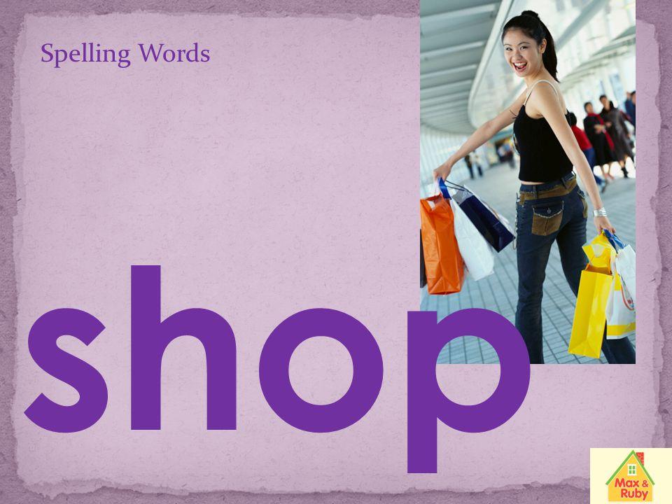 Spelling Words shut
