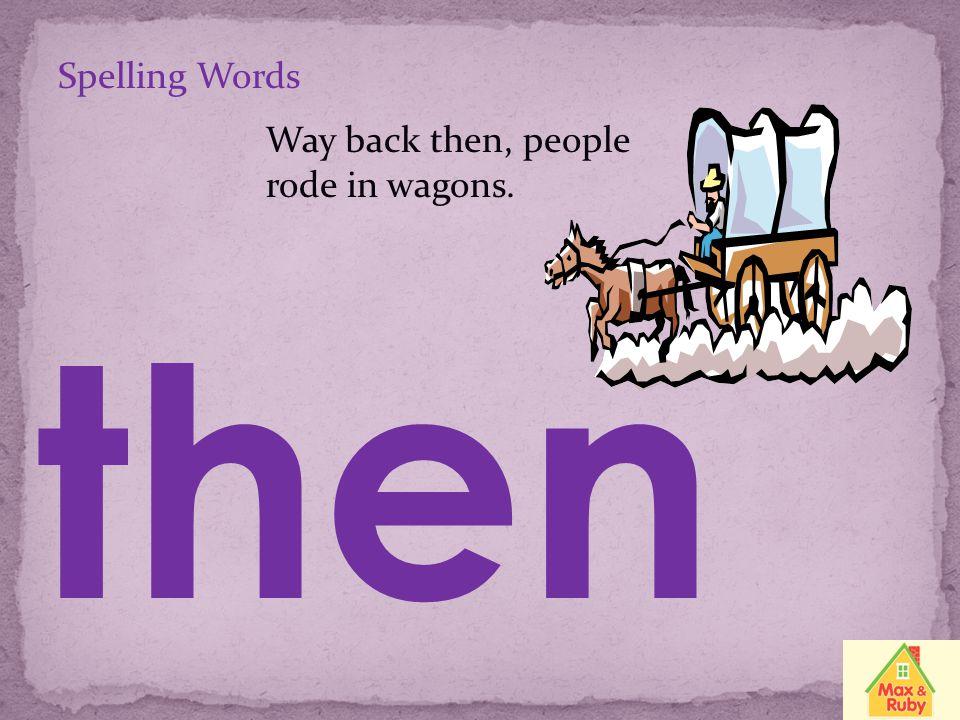 Spelling Words trash