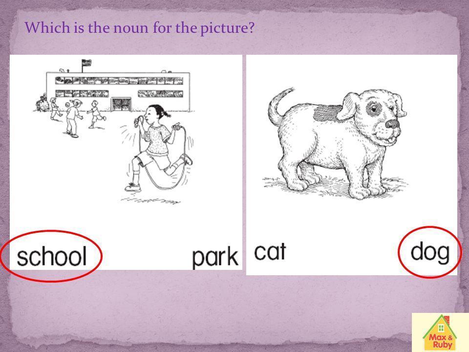 Grammar Target Skill: Nouns A noun names a person, a place, an animal, or a thing.
