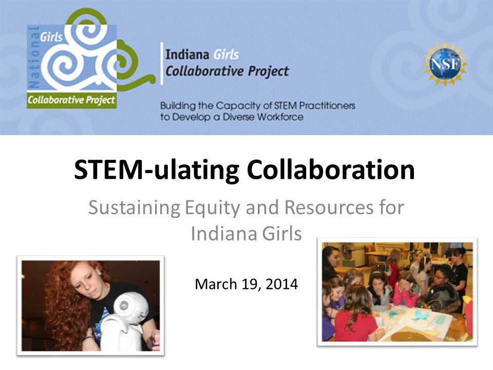 STEM-ulating Collaboration Sustaining Equity and Resources for Indiana Girls March 19, 2014