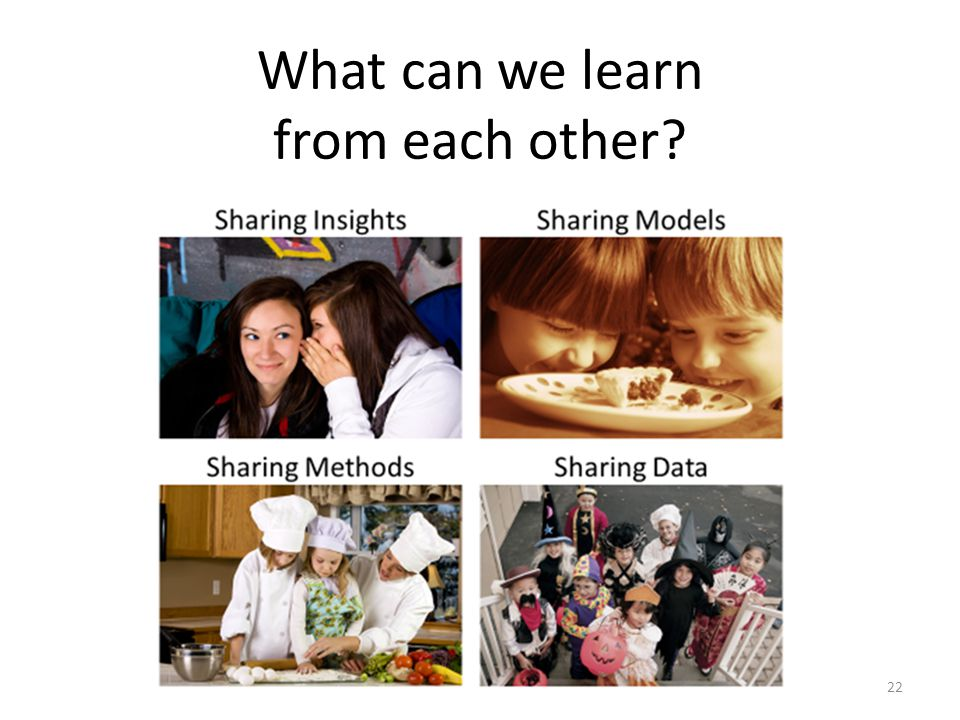 22 What can we learn from each other
