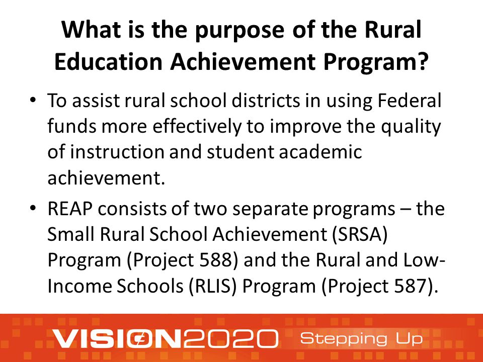 What is the purpose of the Rural Education Achievement Program.