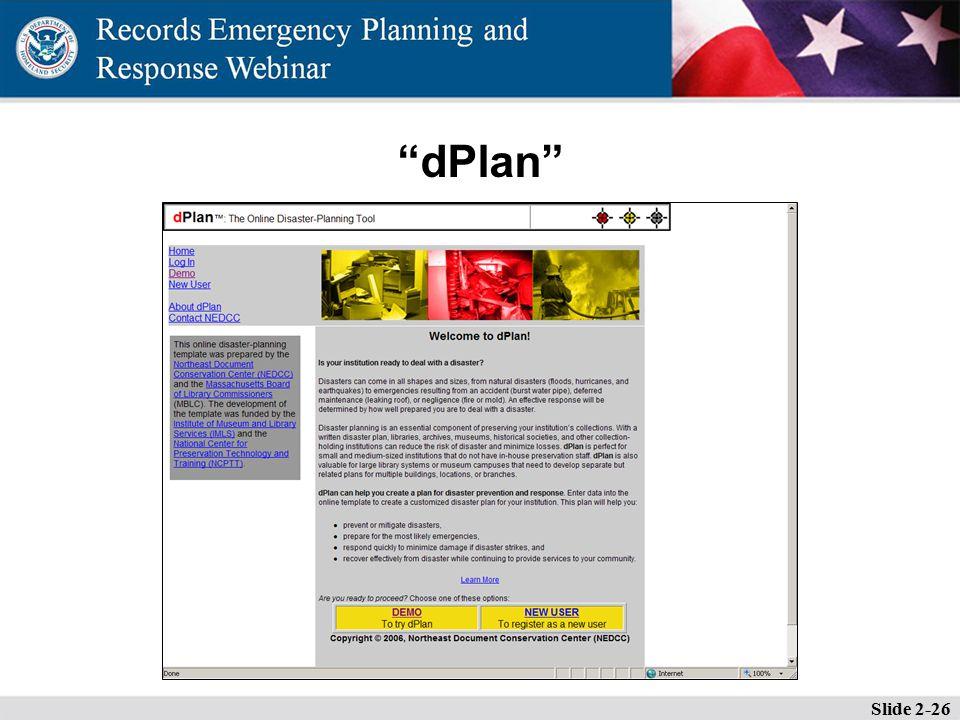 dPlan Slide 2-26