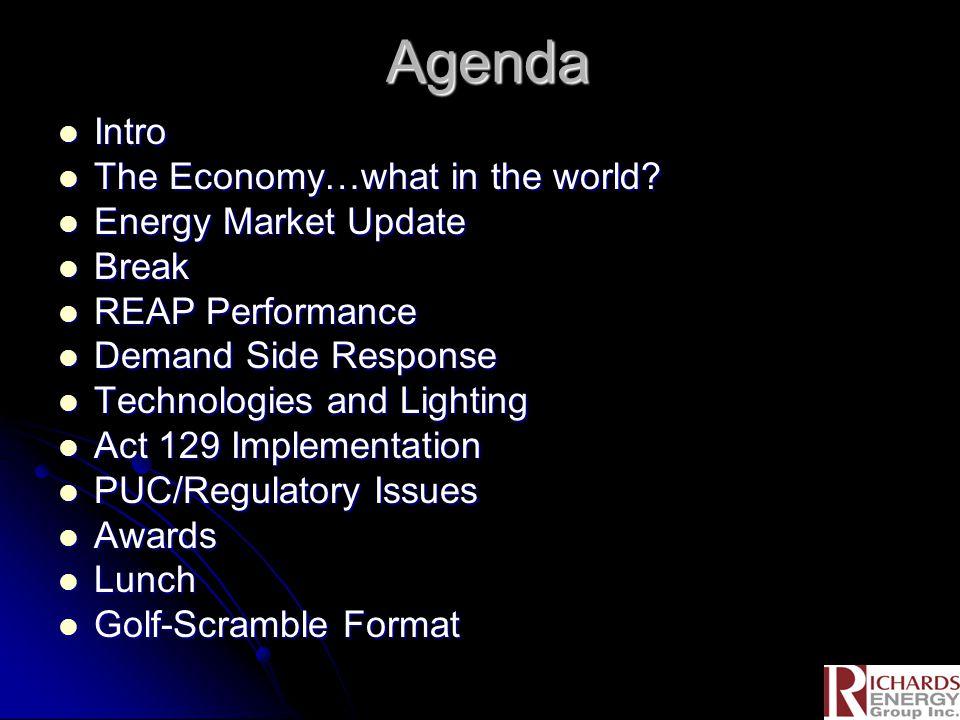 Agenda Intro Intro The Economy…what in the world. The Economy…what in the world.