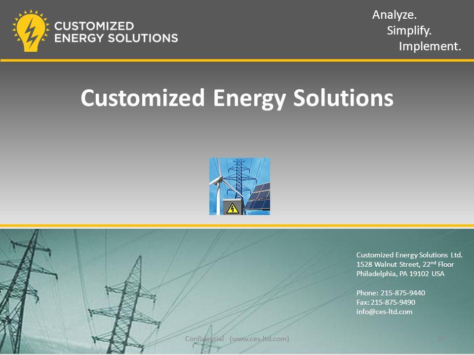 Analyze. Simplify. Implement. Customized Energy Solutions Ltd.