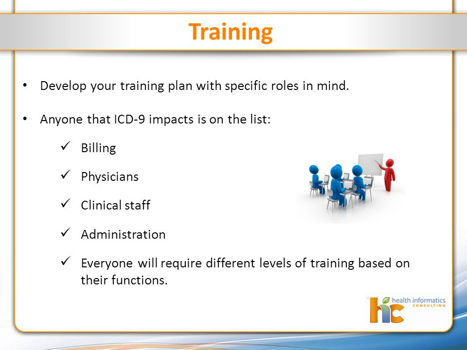 Training Develop your training plan with specific roles in mind.