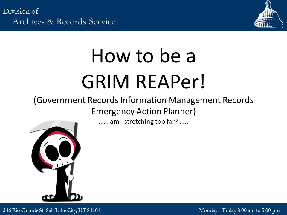 How to be a GRIM REAPer.