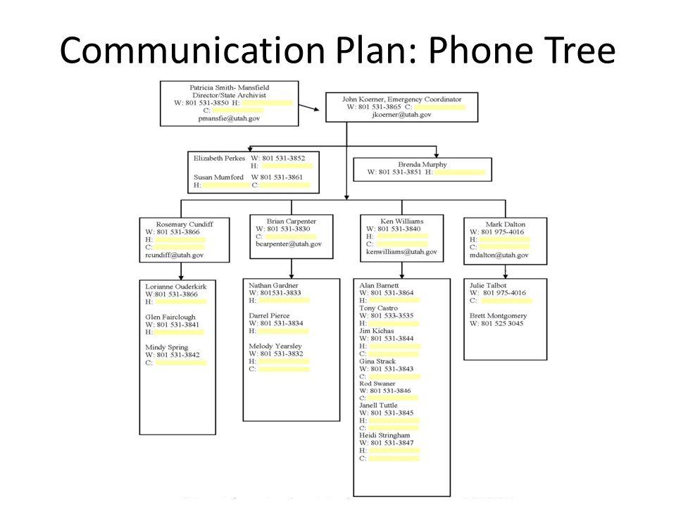 Communication Plan: Phone Tree