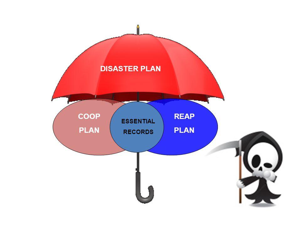 DISASTER PLAN COOP PLAN REAP PLAN ESSENTIAL RECORDS
