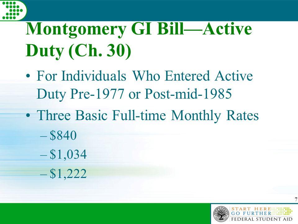 7 Montgomery GI Bill—Active Duty (Ch.
