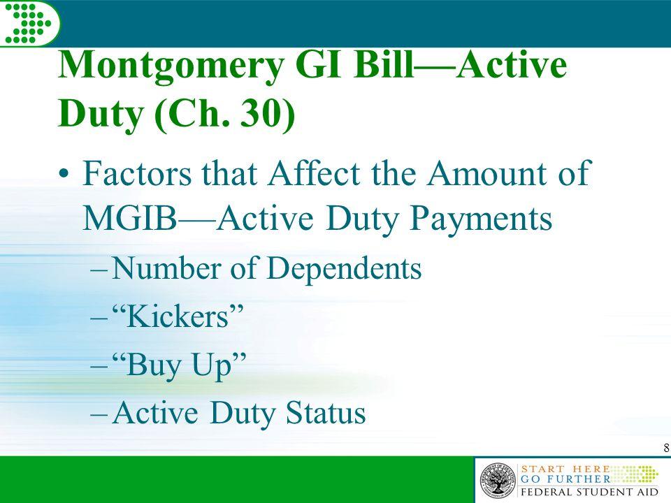 8 Montgomery GI Bill—Active Duty (Ch.