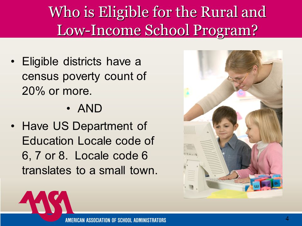 4 Who is Eligible for the Rural and Low-Income School Program.