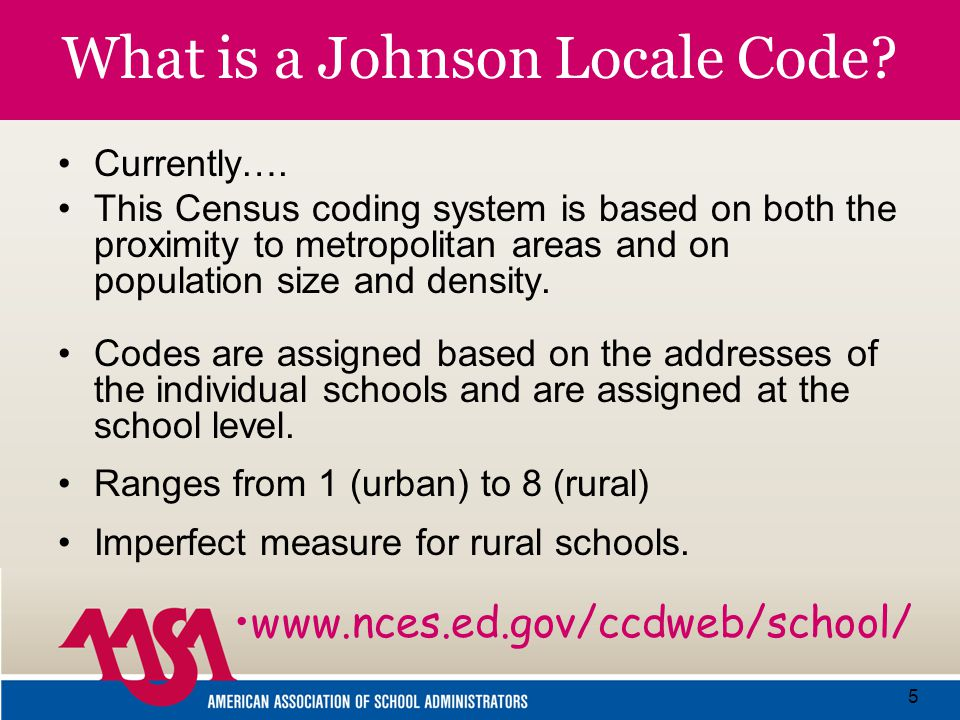 5 What is a Johnson Locale Code. Currently….