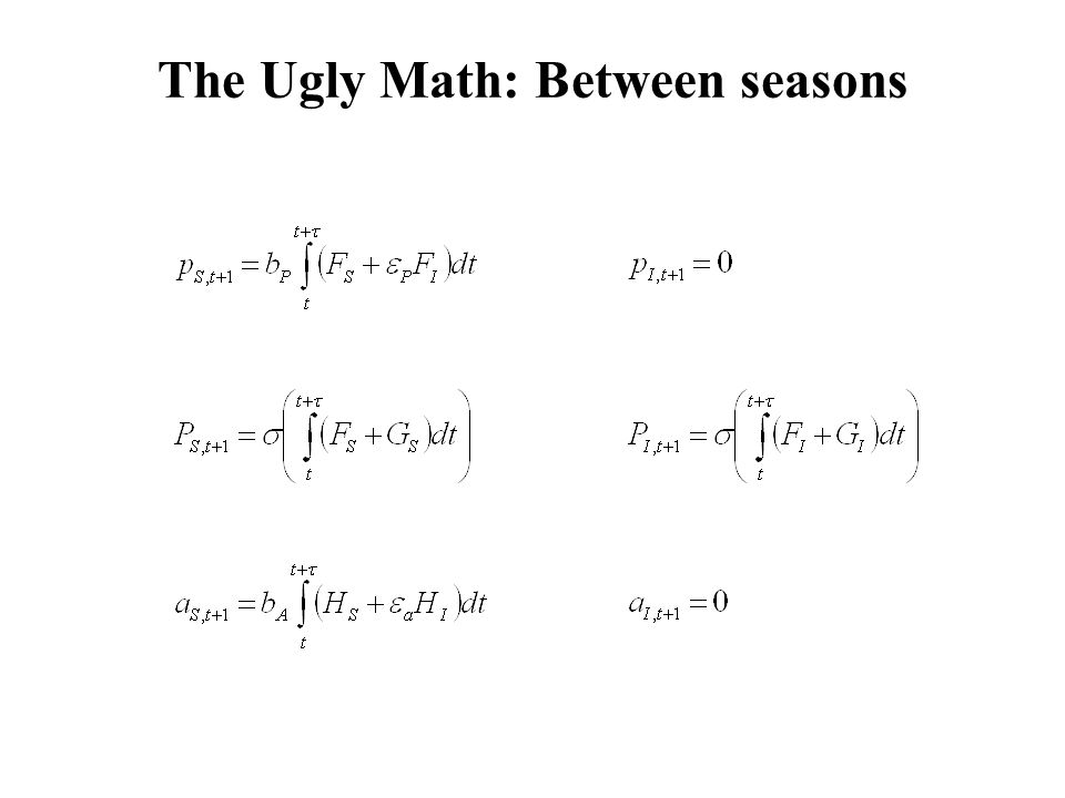 The Ugly Math: Between seasons