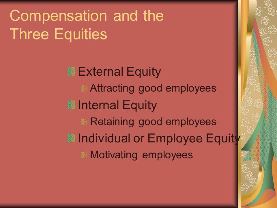 Compensation Goals Attracting good employees Retaining good employees Motivating employees Complying with the law Having a cost effective compensation system