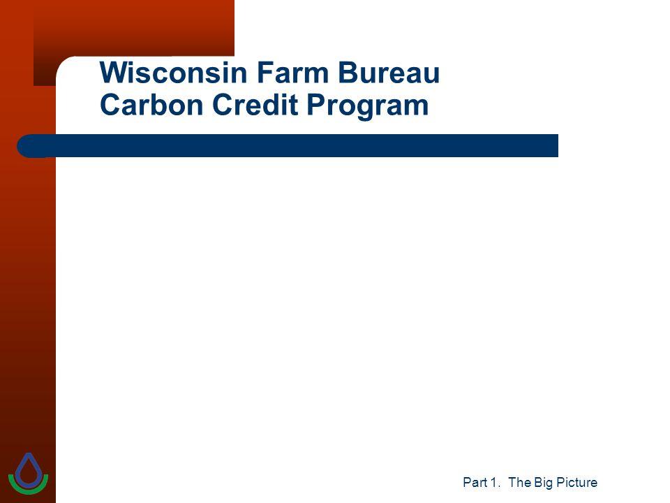 Part 1. The Big Picture Wisconsin Farm Bureau Carbon Credit Program