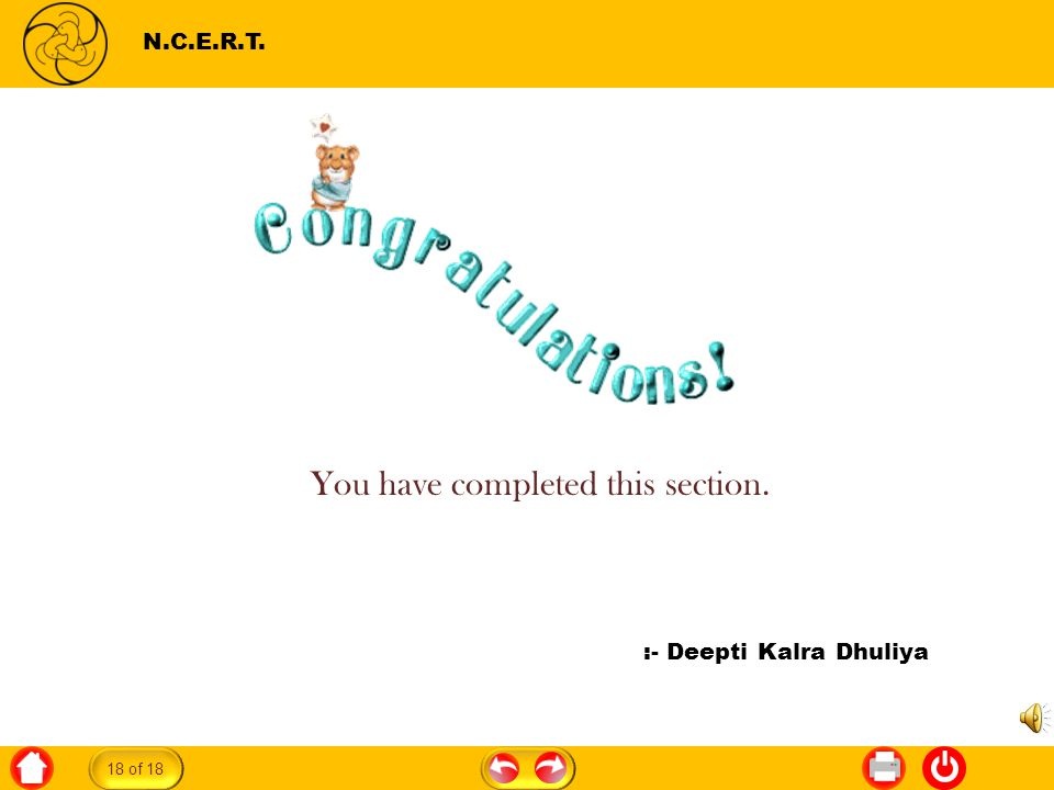 Gulliver s Travels N.C.E.R.T. :- Deepti Kalra Dhuliya You have completed this section. 18 of 18