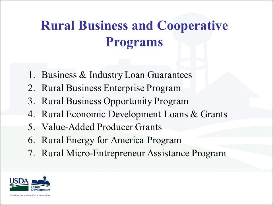 USDA RD Business Programs Business Grant