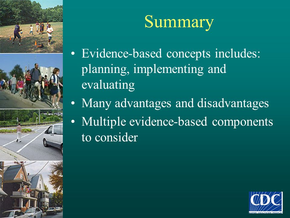 Phase I Evidence Review Literature review examined original research published since January 1995 Health outcome chapters: –All-cause mortality, cardio-respiratory, musculoskeletal, functional health, cancer, mental health, adverse events, metabolic, & energy balance Stratified by age groups –Children and youth (6-18 years) –Adults (19-64 years) –Older adults (65 + years)