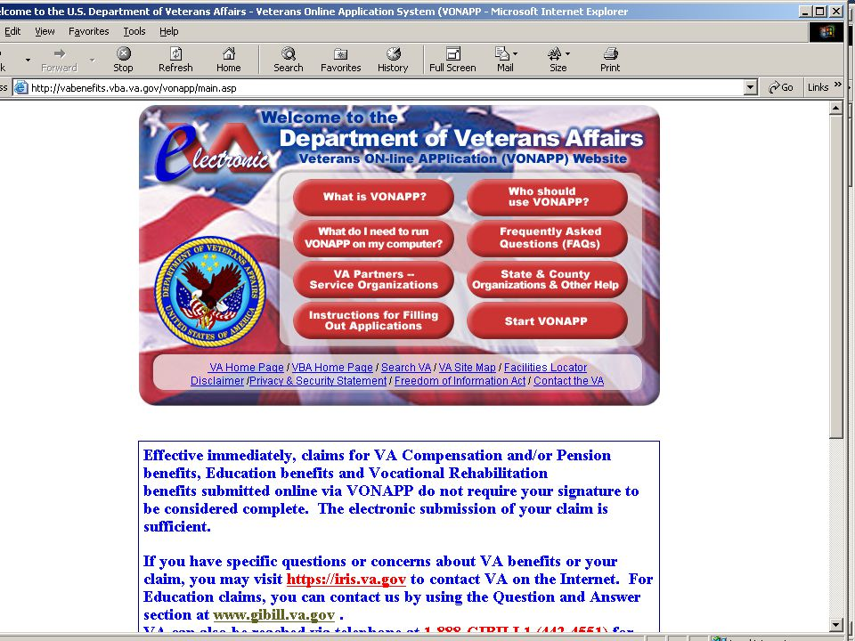 To Open An VA Educational Claim Veteran must submit a VA Form 22- 1990 (Application for Educ.