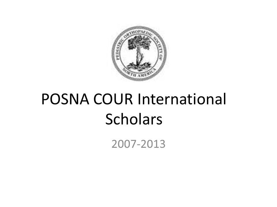 POSNA COUR International Scholars 2007-2013