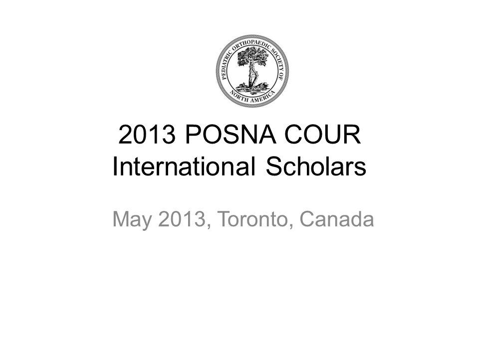 2013 POSNA COUR International Scholars May 2013, Toronto, Canada
