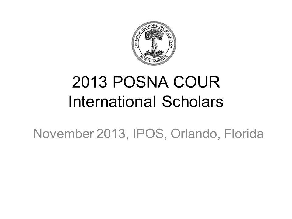 2013 POSNA COUR International Scholars November 2013, IPOS, Orlando, Florida