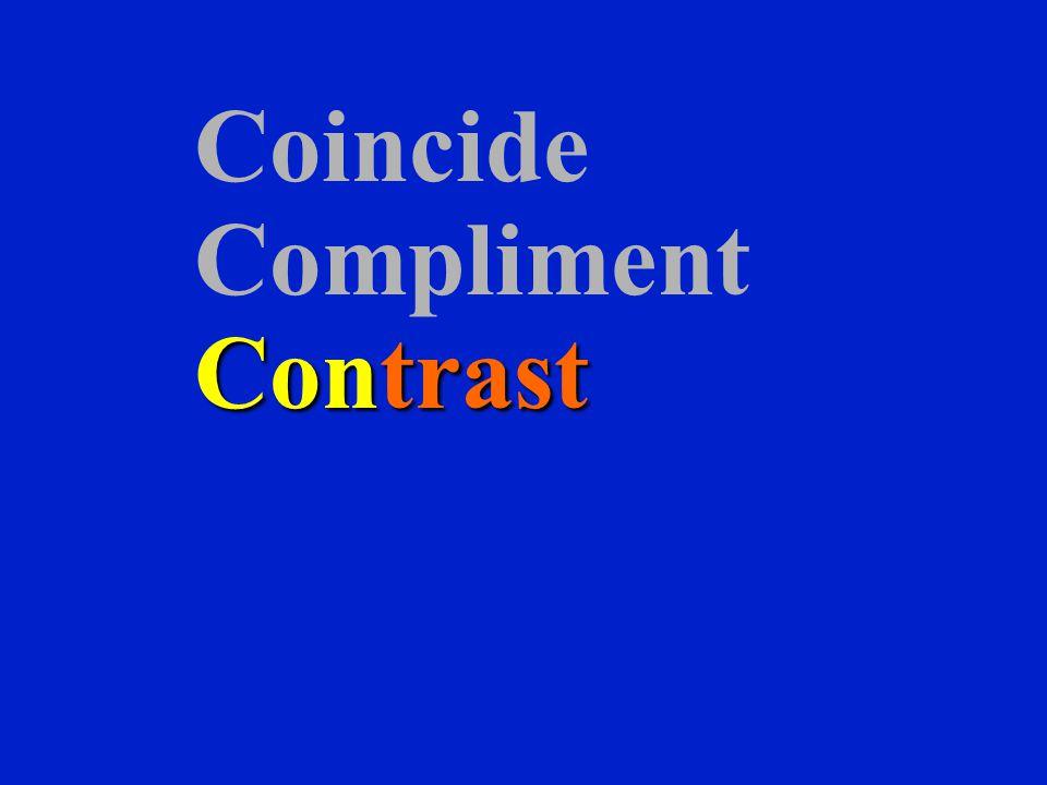 Coincide Compliment Contrast
