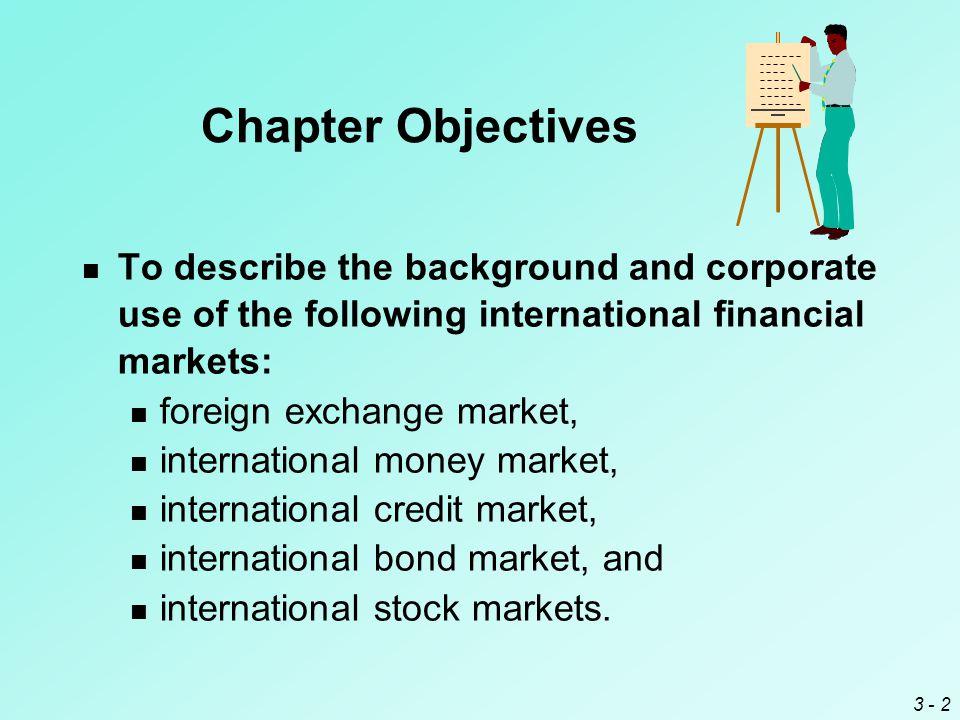 3 - 13 International Money Market Both the European and Asian money markets originated as markets involving mostly dollar-denominated deposits.
