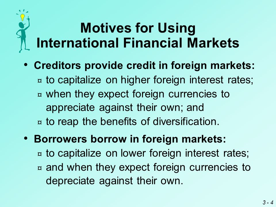 3 - 15 International Bond Market There are two types of international bonds:  Bonds denominated in the currency of the country where they are placed but issued by borrowers foreign to the country are called foreign bonds or parallel bonds.