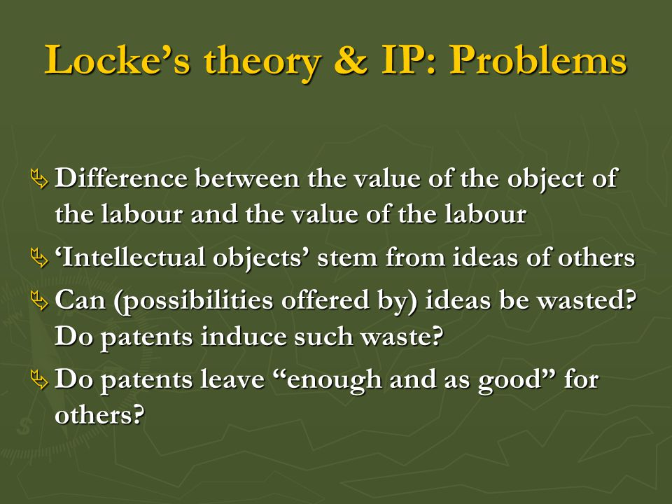 Distributive justice  Fairness requires that inventors be rewarded  Free riding is unfair  Patents are justified because they protect inventors against 'free riders'