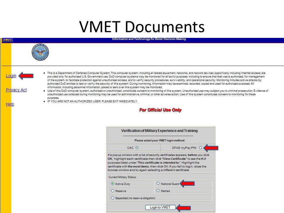 VMET Documents