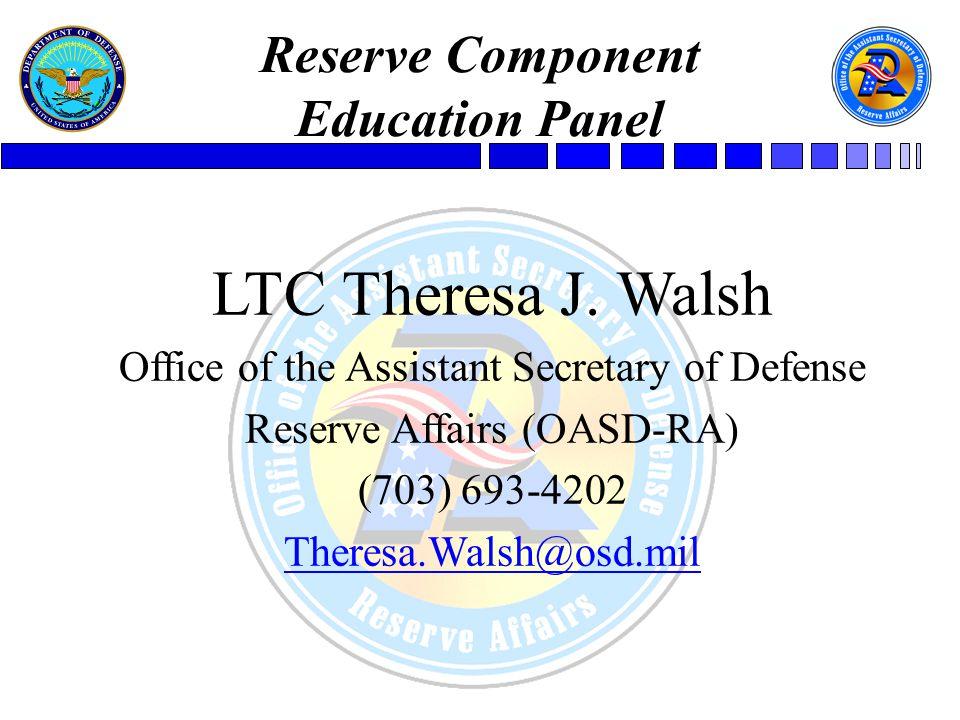 Reserve Component Education Panel Mr.