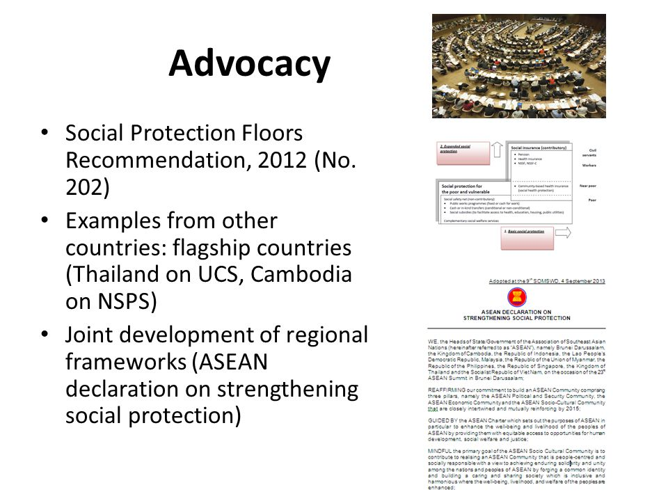 Advocacy Social Protection Floors Recommendation, 2012 (No.