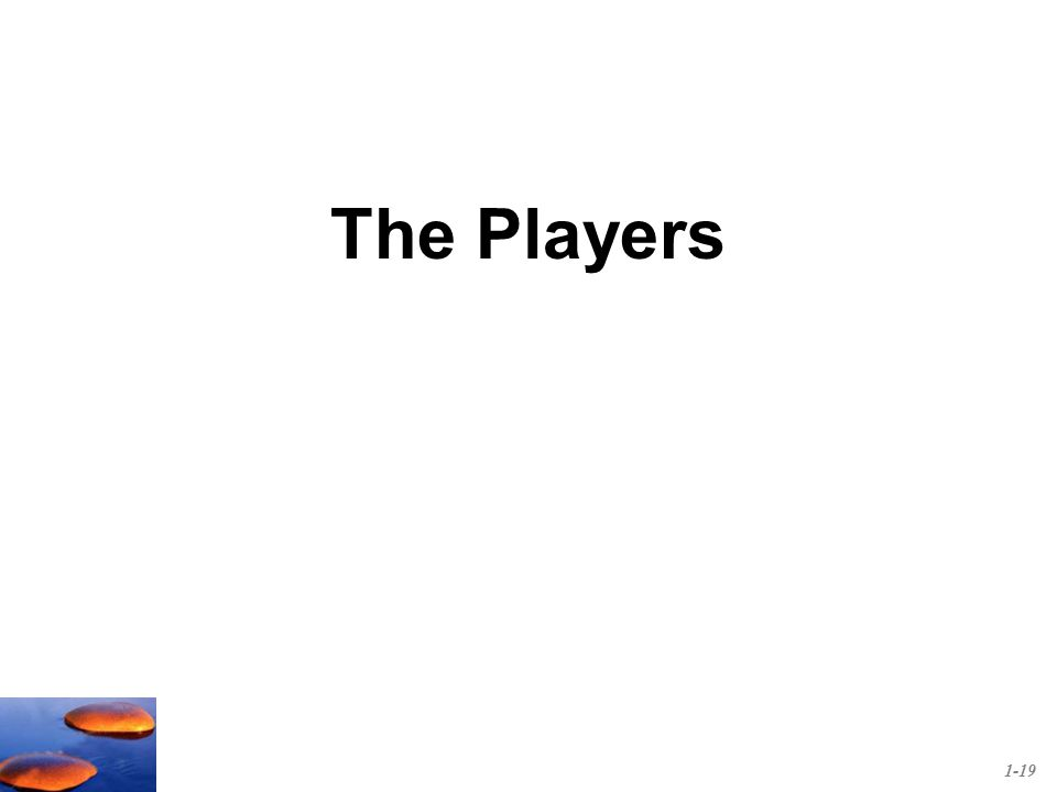 The Players 1-19
