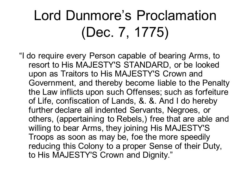Lord Dunmore's Proclamation (Dec.