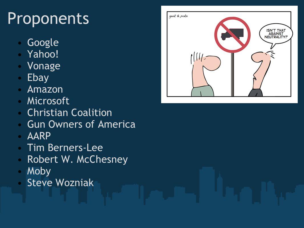 Proponents Google Yahoo.