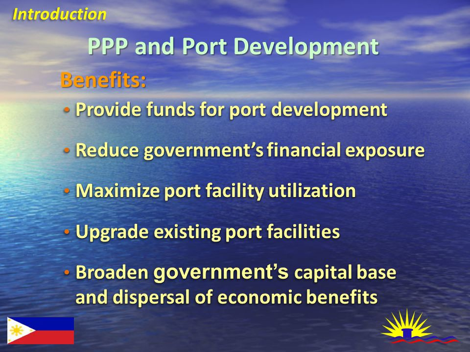 PPA Privatization Framework PPA Privatization Schemes Whole Terminal Leasing Whole Terminal Leasing Facilities and Real Estate Property Leasing Port Services Contracting Port Services Contracting