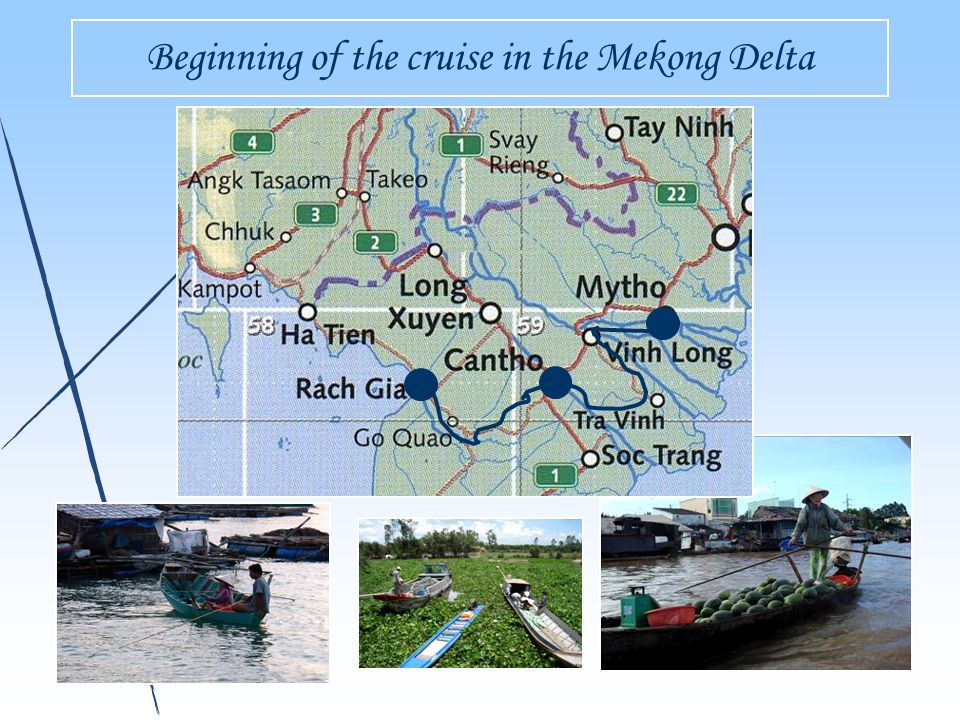 Beginning of the cruise in the Mekong Delta