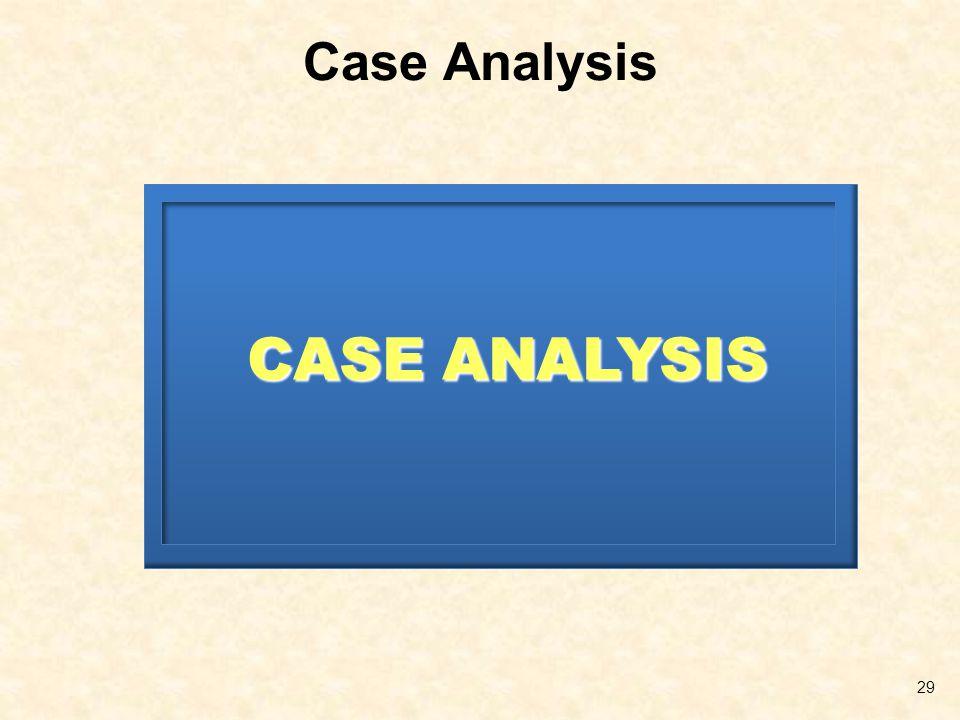 Case Analysis 29 CASE ANALYSIS