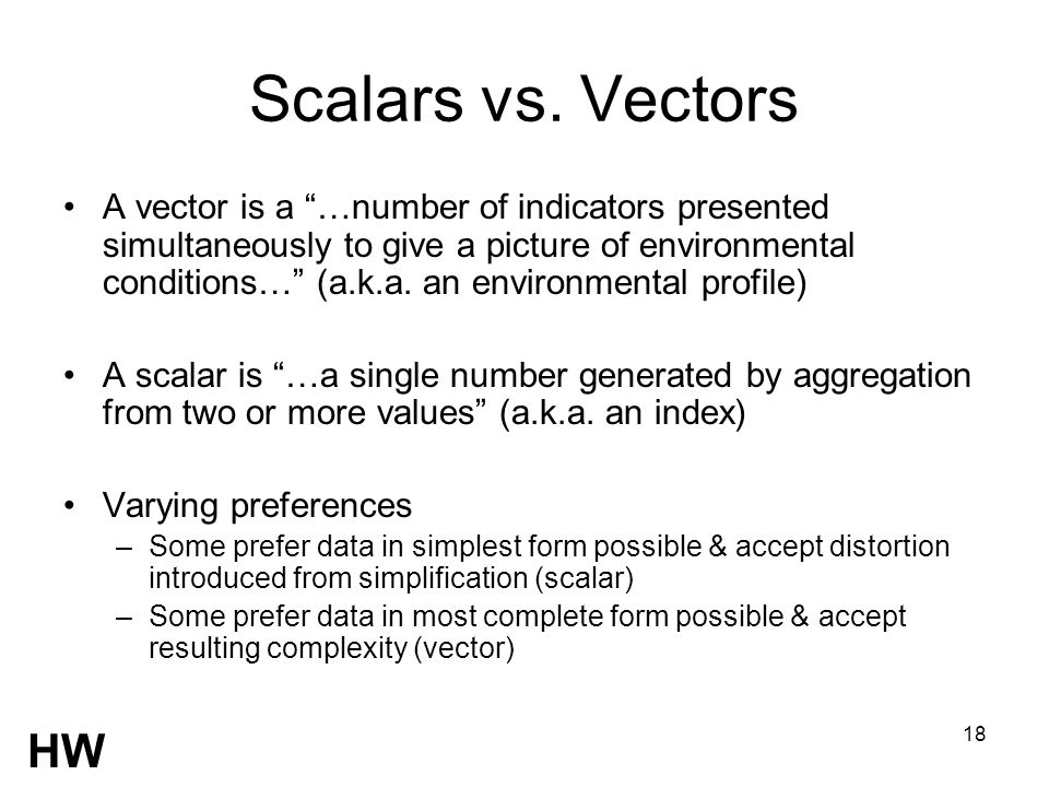 18 Scalars vs.
